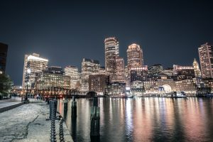 Boston viewed across the river